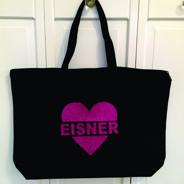 Black Zippered Tote