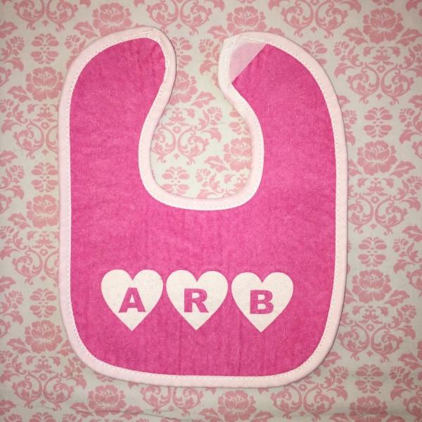 Dark Pink Baby Bib
